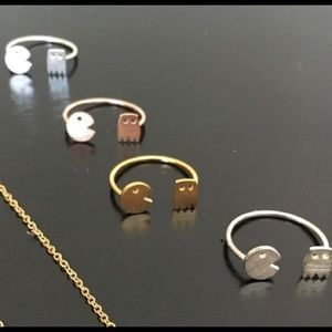 Jewelry - Pac Man hipster adjustable ring bundle